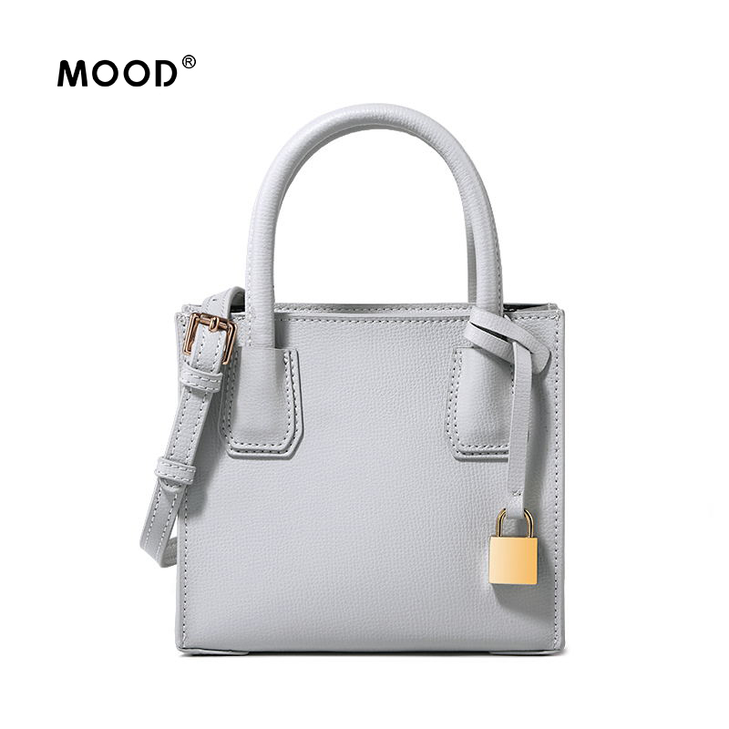 MOOD handbags women leather bag mini cowhide material Locks bag one shoulder bag joker inclined quality guarantee Free shipping