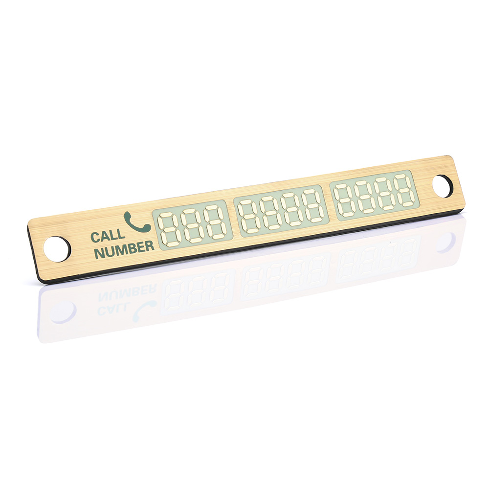 Temporary Car Parking Card Sticker Telephone Number Card Notification Night Light Sucker Plate Car Styling Phone Number Card 8