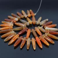 15 5 Strand Of Orange Agate Top Drilled Point Pendant Beads Dragon Aagte Druzy Bullet Spike