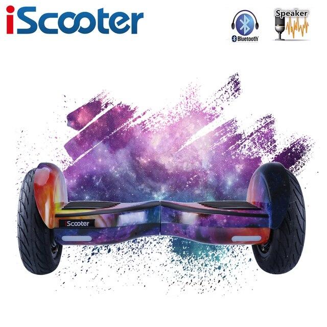 Бесплатная доставка ХОВЕРБОРДА 10 дюймов Электрический скейтборд рулевого колеса смарт-2 колеса Самостоятельная Баланс стоял скутер gyroscooter