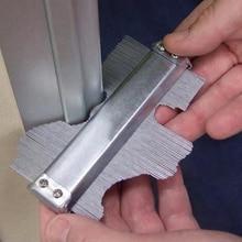 Неровный контурный измерительный прибор, декоративный профиль, стальной узор, контурная глубина, плитка из металла, сталь 125 мм
