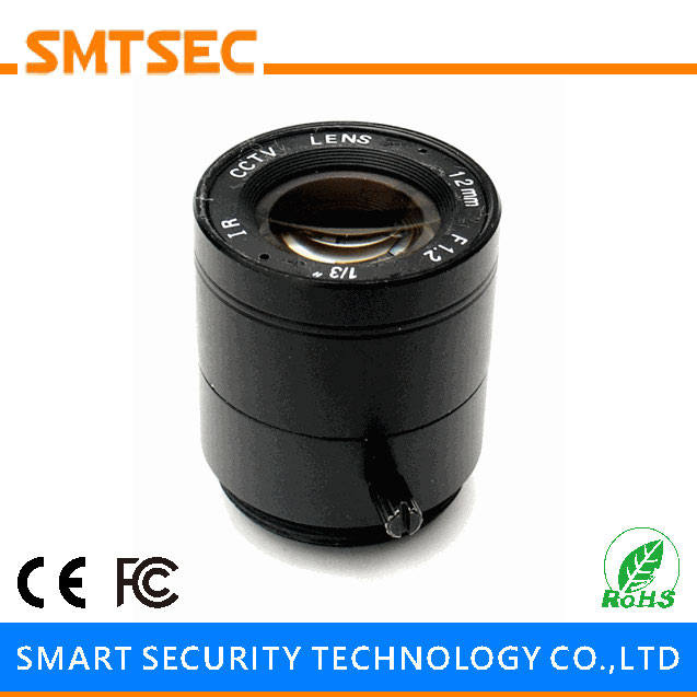 "SMTSEC SL-1212F 12.0mm F1.2 1/3"" CS Mount 25 Degrees Fixed Iris Lens for CCTV Surveillance IP Camera"