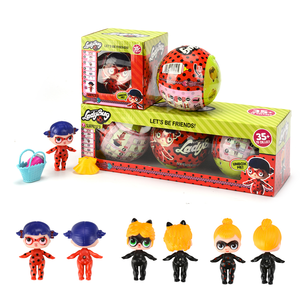 NEW Cartoon Ladybug For LoL Hatching Egg Action Figures Best Lovely Gift Toy Change For Surprise