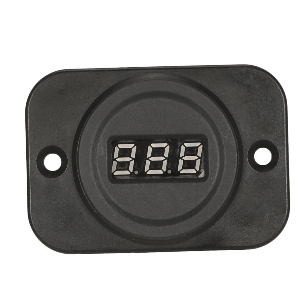 5PCS 4 40V Round LED Display Panel Voltmeter Electric Voltage Meter Volt Tester for Auto Car Motorcycle Battery Cart