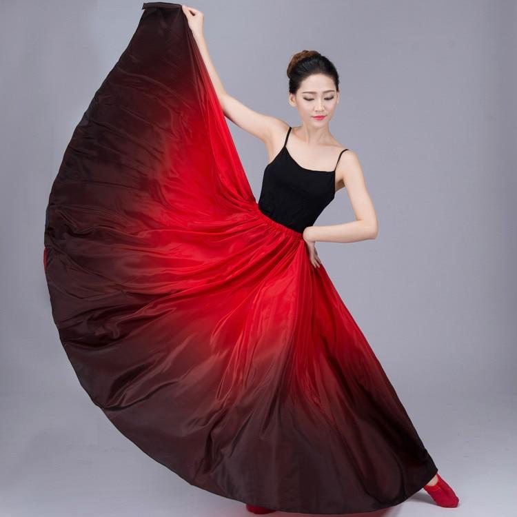 Beautiful Xinjiang Dance Practice Skirt Uygur Yi Tibetan Dance Practice Skirt Performance Costume Costume Dress Big Dress