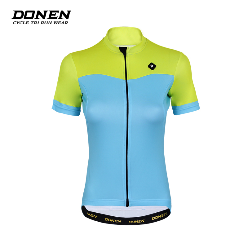 Donen Womens short sleeve Cycling jerseys Fast drying Cycling Equipment Summer Breathable Mountian Cycling Clothing Sportswear