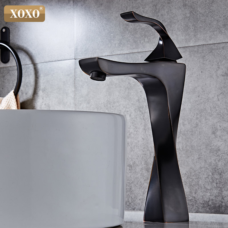 XOXO Basin Faucets Brass Taps Contemporary Single Handle Mixer Tap Bathroom Faucets Hot And Cold Cock