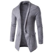 2016 4 farbe New Fashion Solide Herren Pullover V-ausschnitt Slim fit Lange hülse Strickte Beiläufige Strickjacke Männer Pullover M-XXL