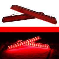 Đối với Mazda3 Mazda 3 Axela Mazdaspeed32X Ống Kính Đỏ 24 LED Phía Sau Bumper Reflector Tail Phanh Nhẹ 04-09