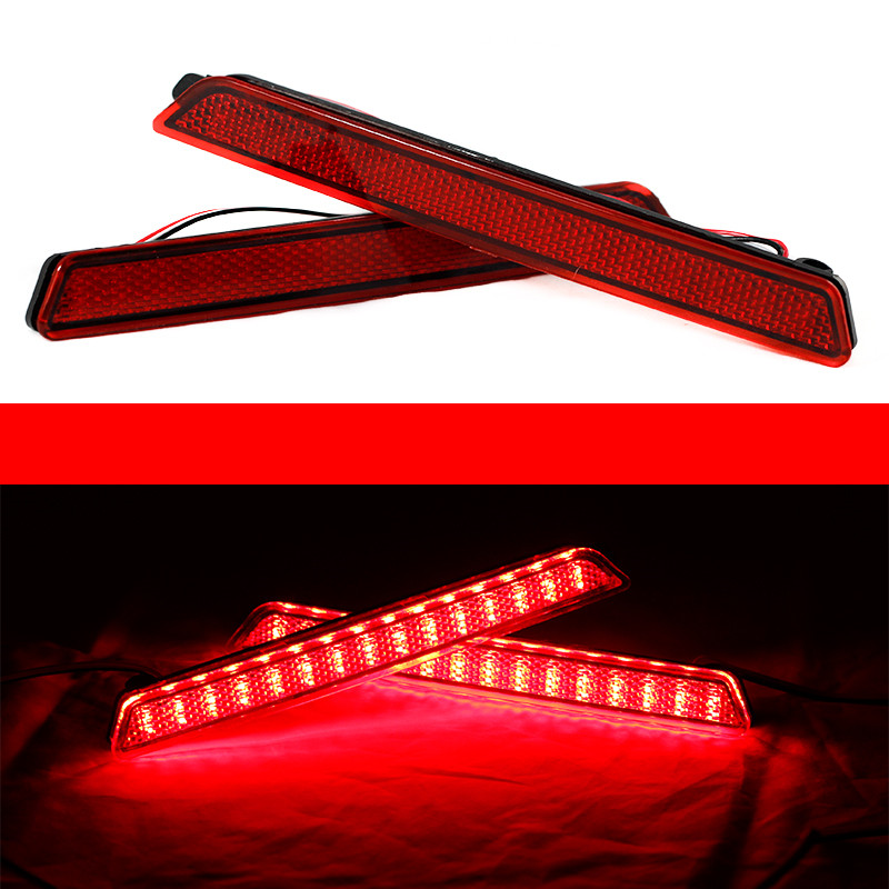 For Mazda3 Mazda 3 Axela Mazdaspeed32X Red Lens 24 LED Rear Bumper Reflector Tail Brake Light 04-09 ветровики skyline mazda 3 wag 04