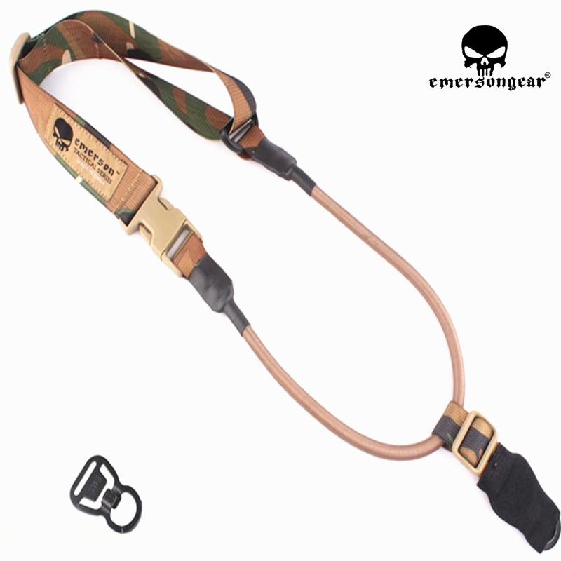 EmersonGear L.Q.E One Point Slings Series l  Hunting Airsoft Slings with MASH Hook Rifle Sling Tactical Gun Sling  Holsters