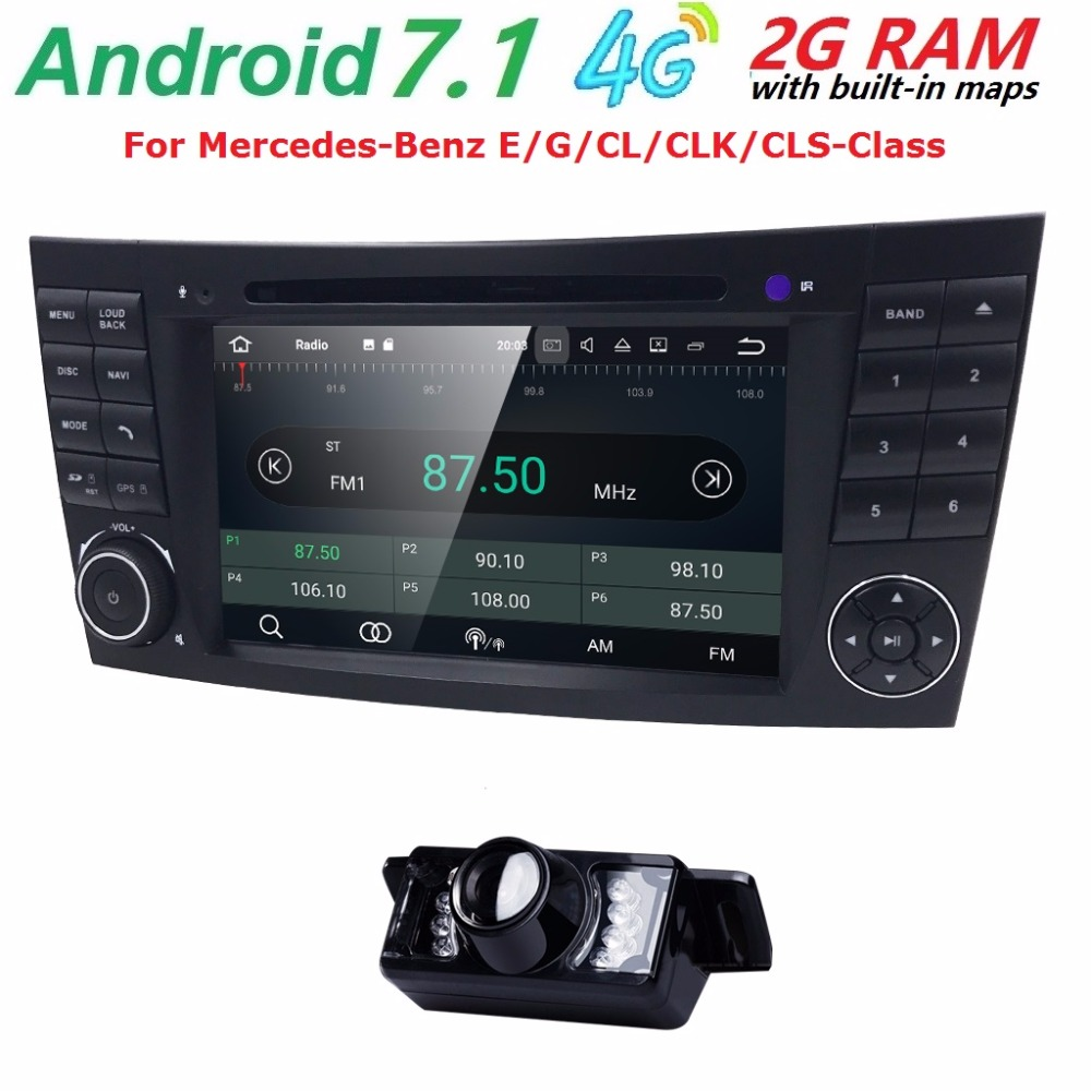 7 car monitor dvd gps navigation stereo radio for mercedes benz g e class w211 w463 w209 w219. Black Bedroom Furniture Sets. Home Design Ideas