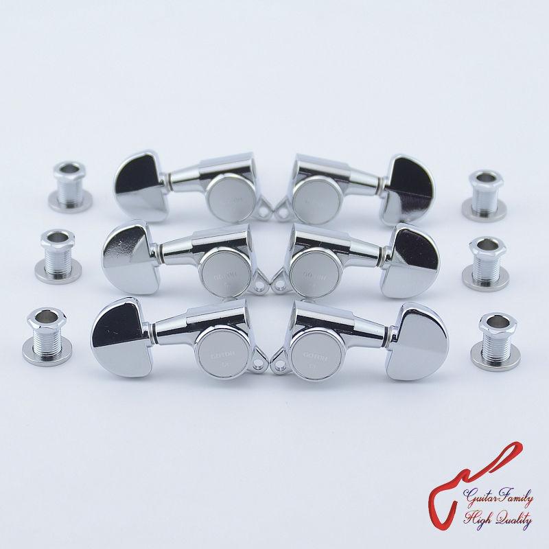 3L x 3R Cosmo Black GOTOH SG381-07-MGT Locking Tuners  Small Knobs