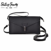 Sally Young 2017 New Bag Design Pattern Stylish Leather Wallet Bag Candy Color Women Wallet VKP1555