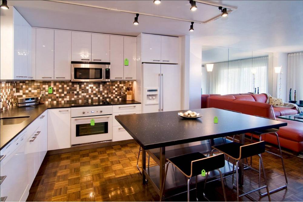 camadas de laca alto brilho armrios de cozinha modular china vendas quentes novo design
