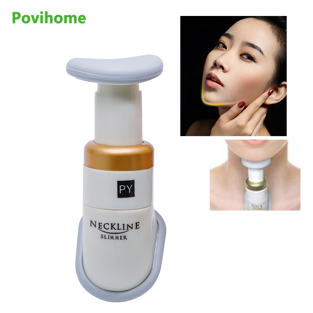 Povihome Face Jaw Facial Massager Neckline Slimmer Portable Neck Neckline Exerciser Mini Double Chin Removal Massage C1359