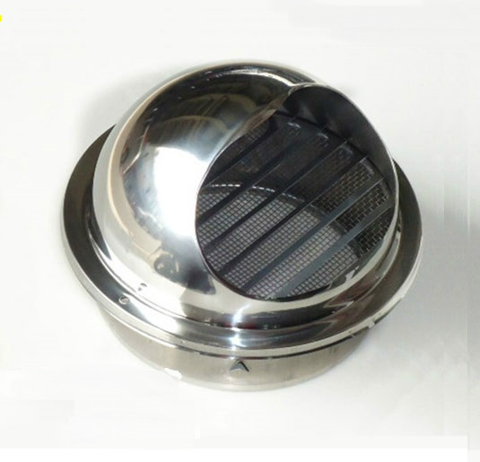 High Polish Stainless Steel Wall Air Vent Bull Nose Bathroom Extractor Outlet Grille Louvres