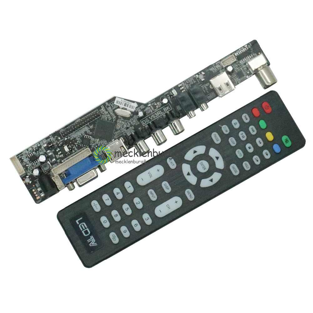 Universal LCD Controller Board ความละเอียดทีวีเมนบอร์ด VGA/HDMI/AV/TV/USB HDMI Interface Driver Board