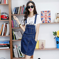 2017 spring summer women's water wash denim skirt braces autumn fashion School jumpsuit overalls casual Sexy Mini Shorts