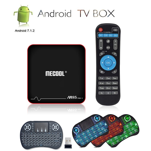 US $41 39 7% OFF|Mecool M8S PRO W Android 7 1 TV Box Set top Box IPTV Smart  TV Amlogic S905W 2G RAM 16G ROM + Mini i8 2 4GHz Wireless Keyboard-in