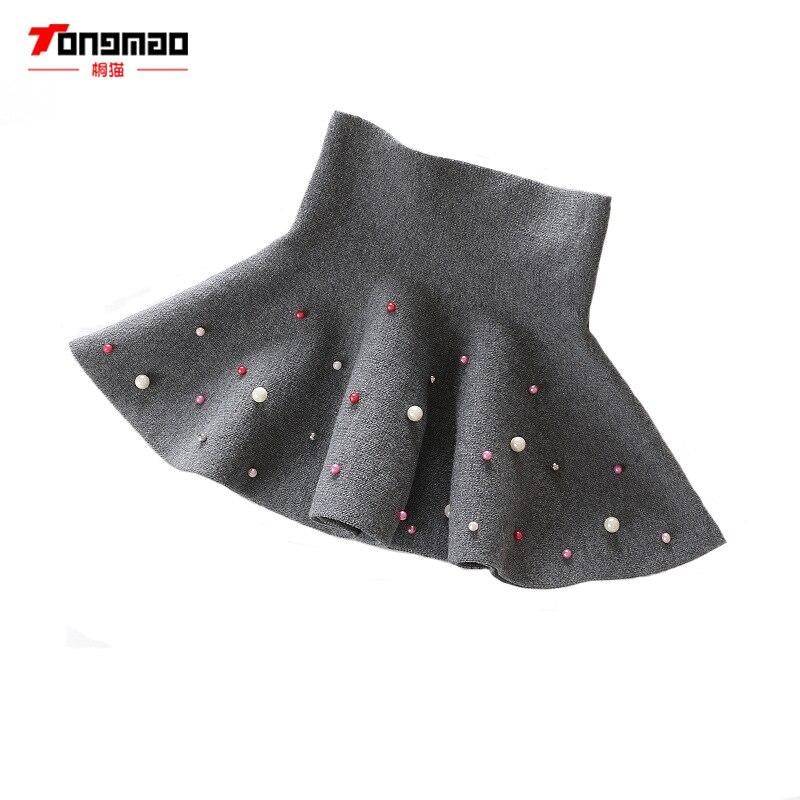 TONGMAO nueva Otoño e Invierno ropa para niños niñas moda Casual falda de punto de fondo perla princesa tutú faldas niño salvaje