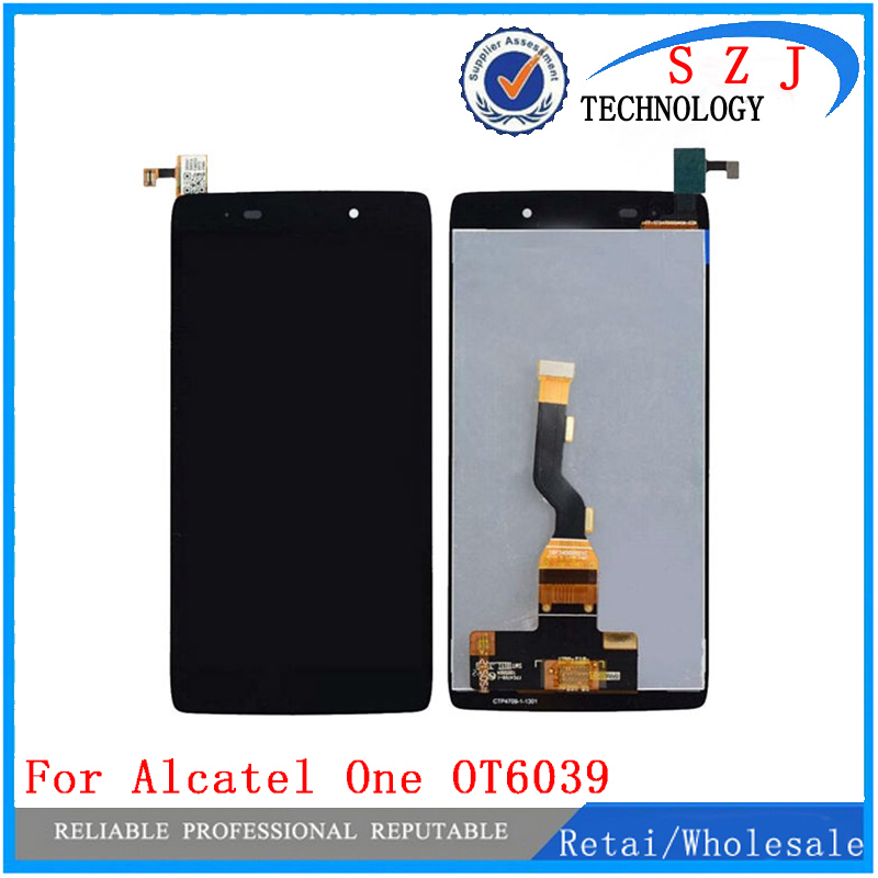 New 4.7'' inch case For Alcatel One Touch Idol 3 OT6039 6039 LCD Display Digitizer Touch Screen Assemblely Free Shipping original lcd display touch screen digitizer assembly with frame for alcatel one touch idol mini 6012 6012a replacement