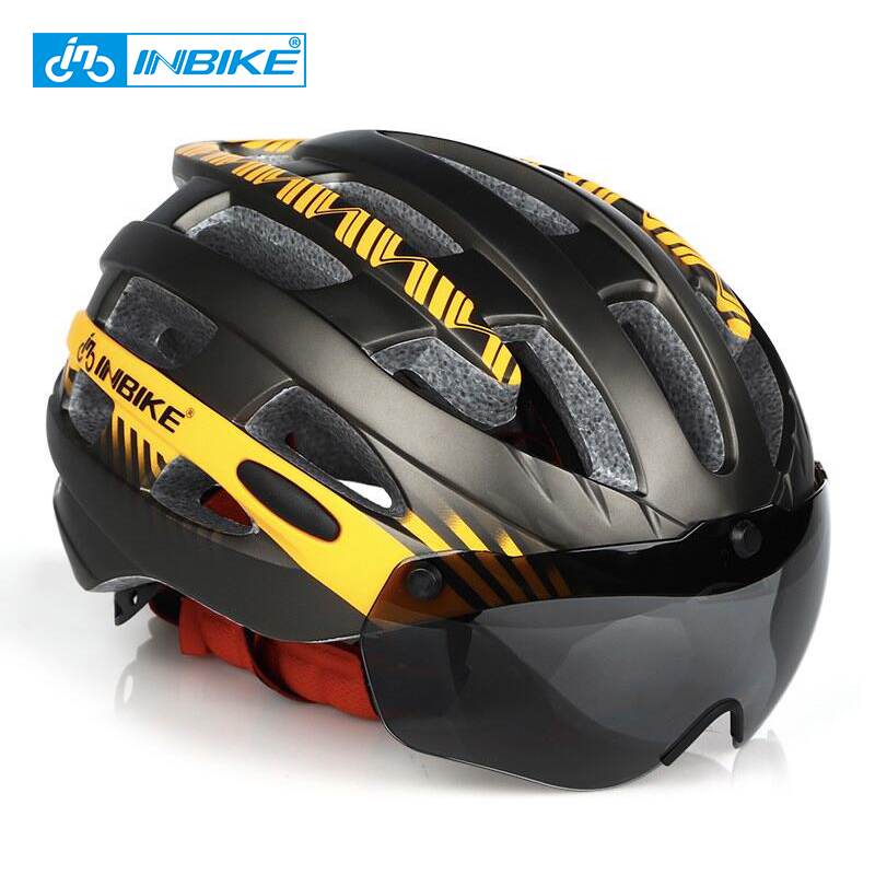 INBIKE Cycling Helmet MTB Bike Goggles Helme Professional Mountain Racing Men Women