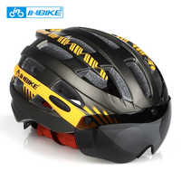 INBIKE Radfahren Helm MTB Bike Goggles Helme Professionelle Berg Racing Helm Ciclismo Männer Frauen Fahrrad IN-MOLD Sicher Kappe