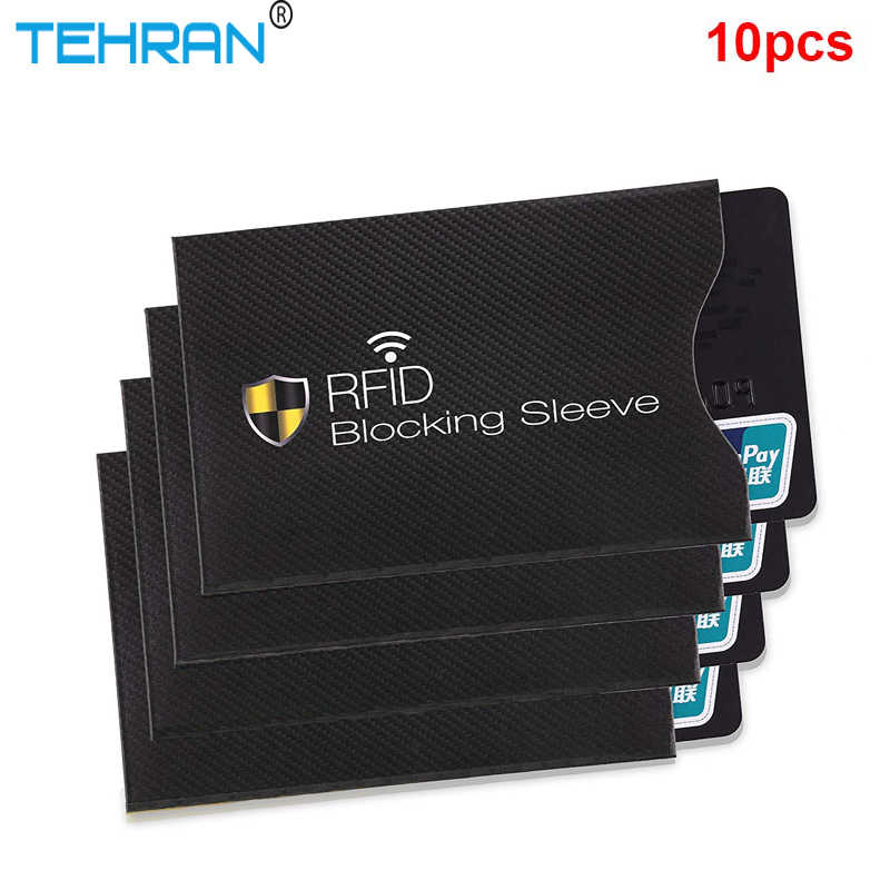 10 pcs / Set Of Anti-theft RFID Card Protector for Bank Card RFID Lock Sleeve Identity Anti-theft Protective Cover for Cards