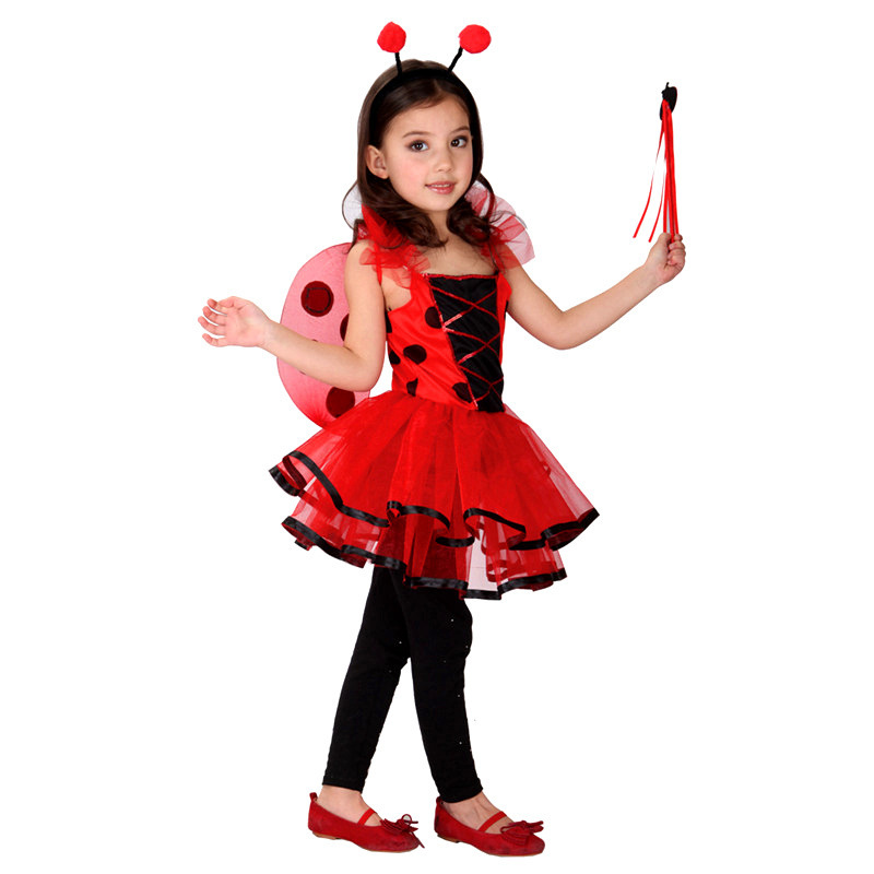 Ladybug Cosplay Costume Princess Dress Halloween Fancy Party Dress Costume Girl's Ladybug Marinette Birthday Present