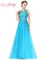O Neck Sleeveless Chiffon Evening Dresses Ever Pretty HE08904 A Line Plus Size Women S Elegant