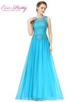 O Neck Sleeveless Chiffon Evening Dresses Ever Pretty HE08904 A Line Plus Size Women S Elegant