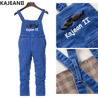 KAJEANII 2017 Spring Autumn Children Girls Strap Jeans Pants Leisure Kids Trousers For 2 8T Color