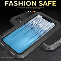 For iphone XR Waterproof Case iphoneXR Hard Shockproof Aluminum Metal Cover For iphone XR Full Protection Phone Case
