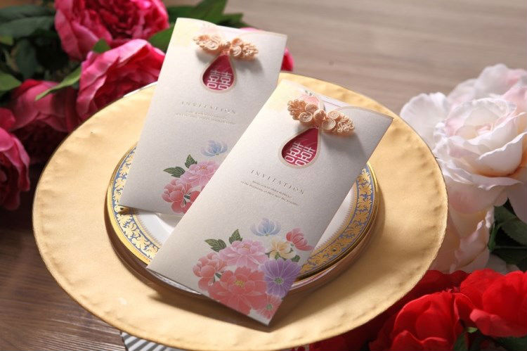 Wedding Invitations In Bulk: Wholesale 50 Sets Colorful Floral Pattern Wedding
