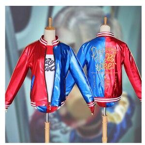 Image 2 - 自殺分隊ハーレークインコスプレ衣装服女性バットマンアーカムアサイラム市ジョーカームービーハロウィンアニメトップジャケット