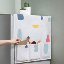 Multifunctional Creative PEVA Refrigerator Hanging Bag Kitchen Waterproof Dust Cover Cloth Household Goods Storage