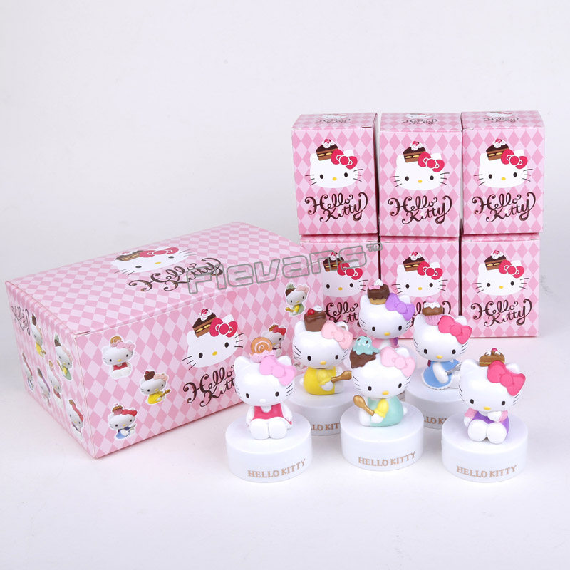 Hello Kitty Toys Dolls Chocolate Edition PVC Figures Collectible Toys 6pcs/set 7cm patrulla canina with shield brinquedos 6pcs set 6cm patrulha canina patrol puppy dog pvc action figures juguetes kids hot toys