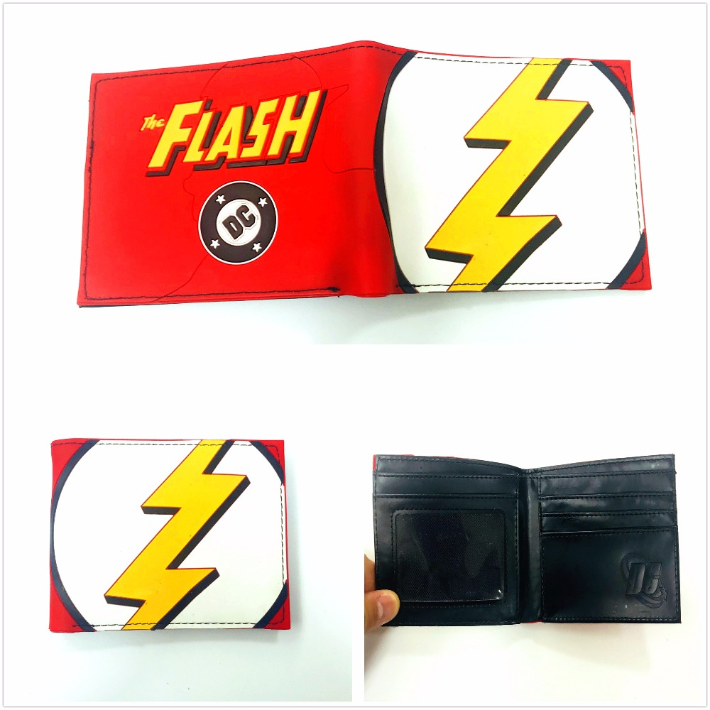 DC Comics The flash Wallet Leather Pu Bifold For Teenager Boys Girls cool Gift XY0035 ...