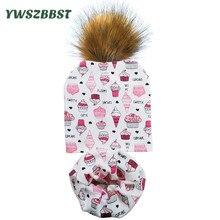 2019 New Spring Autumn Pom Pom Ball Hat Cotton Baby Hat for Girls Boys Cap Scarf Set Kids Hat Crochet Children Beanies Cap