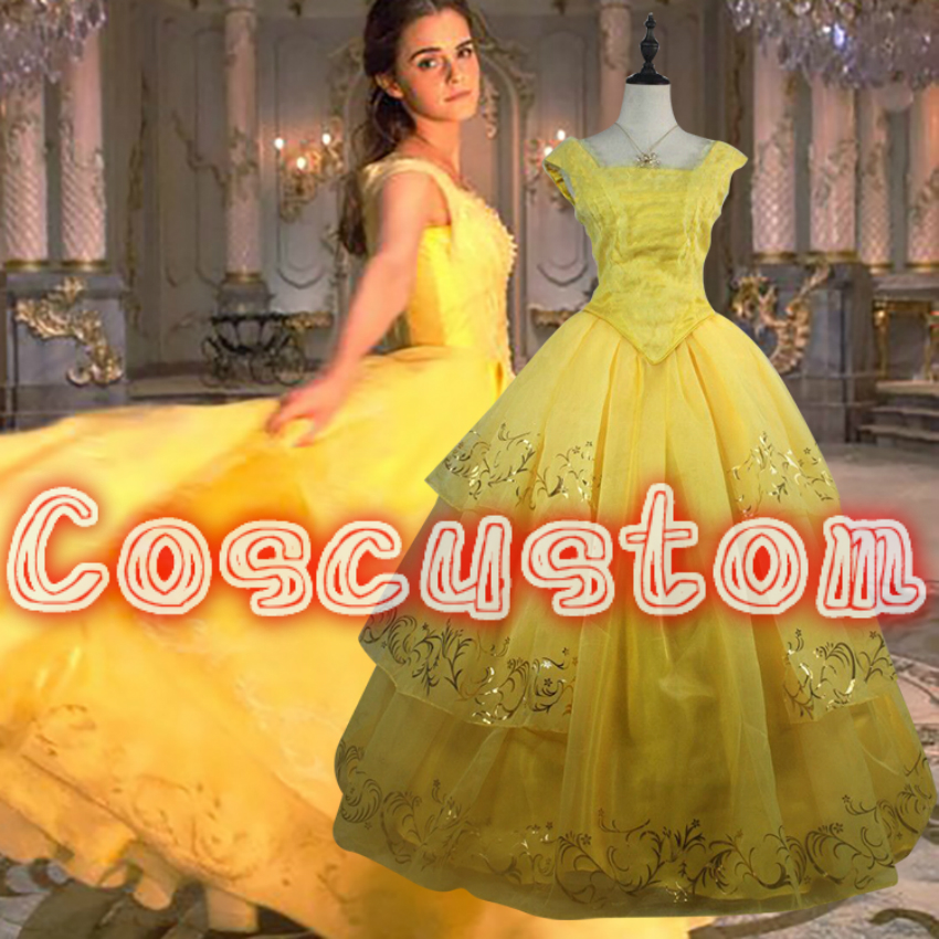 Beauty And The Beast Bridesmaid Dresses: Coscustom High Quality Beauty And The Beast Princess Belle