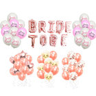 Rose Gold Balloons Team Bride to be Ballons Bridal Shower Wedding Foil Balloon Miss to Mrs Photobooth Props for Wedding Decor