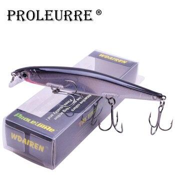 Proleurre 1PCS Minnow Fishing Lure Laser Hard Artificial Bait 3D Eyes 11cm 14g Fishing Wobblers diving 0.2m-1m Crankbait Minnows