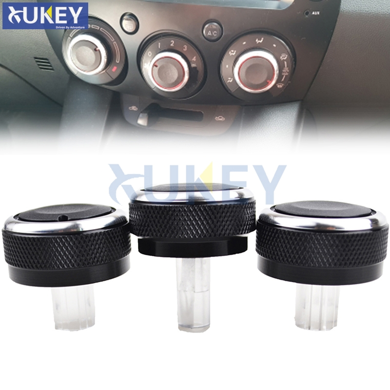 3PCLOT FIT FOR MAZDA 2 M2 DEMIO 07-14 SWITCH KNOB KNOBS HEATER HEAT CLIMATE CONTROL BUTTONS DIALS FRAME AC AIR CONDITIONING