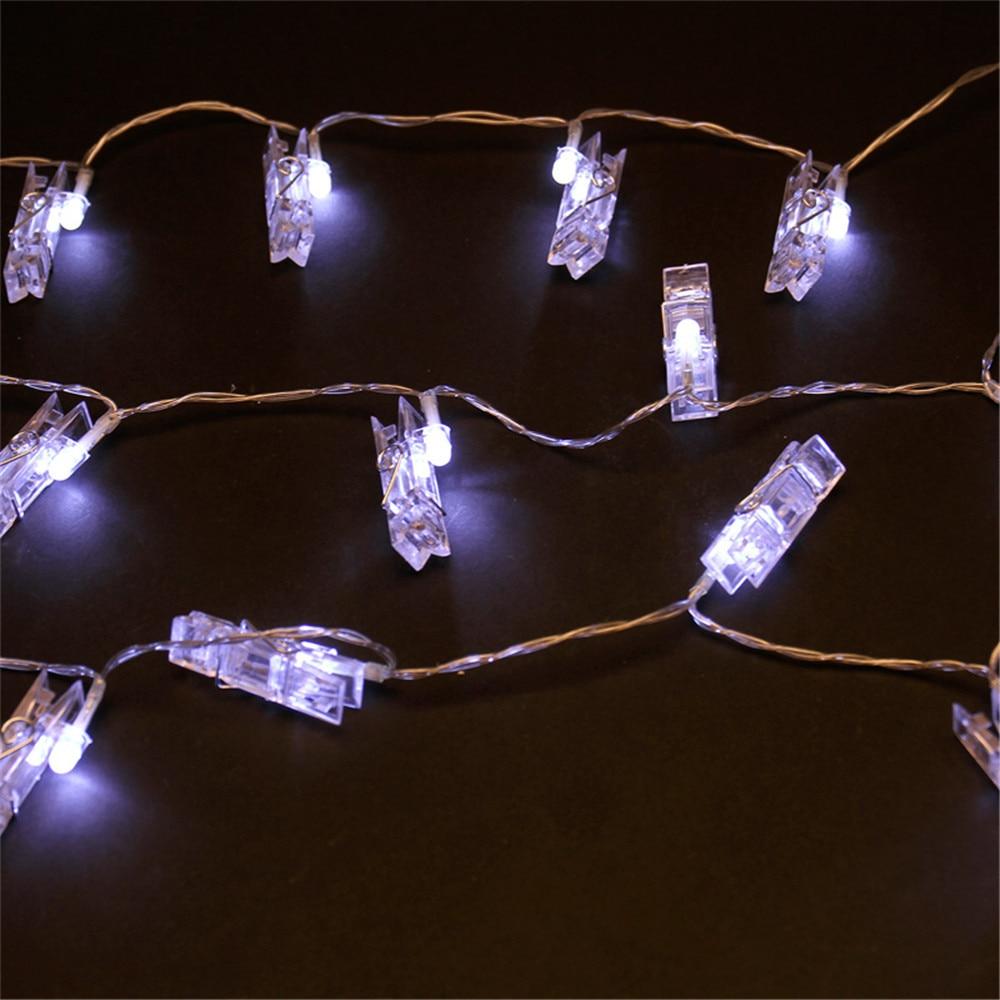 MUQGEW Navidad 20 USB carga LED ventana cortina luces cadena foto Clip lámpara Casa Fiesta Navidad luces led decoración #