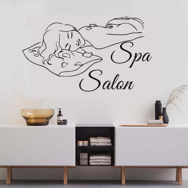 Barber Shop Wall Stickers Vinyl Spa Salon Relaxation Woman Wall