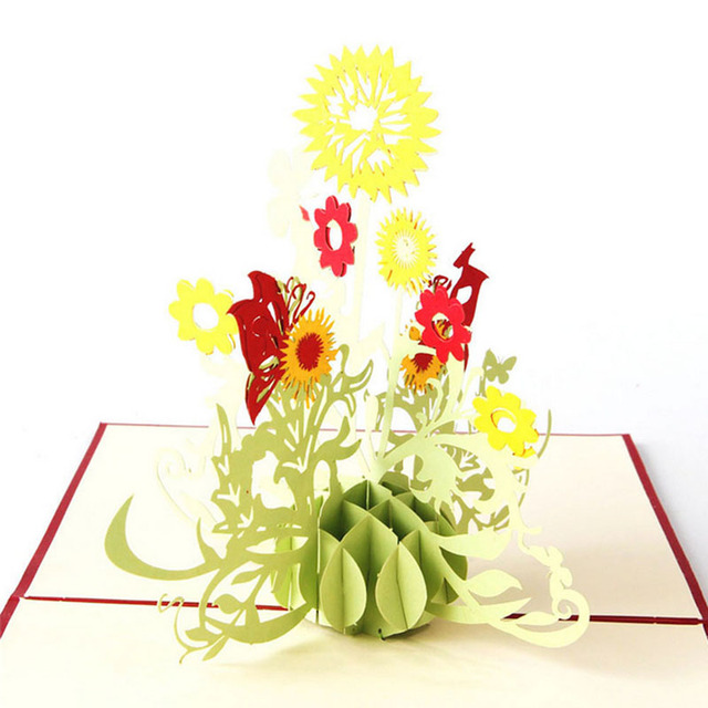 3d pop up greeting cards sunflower birthday mother day thanks 3d pop up greeting cards sunflower birthday mother day thanks christmas gift m4hsunfo