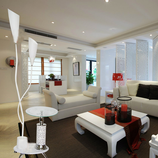 Beautiful Modern Brief Fashion Design Frosted Glass Shade Floor Lamp Stand Lamp For Living  Room Restaurant Bedroom