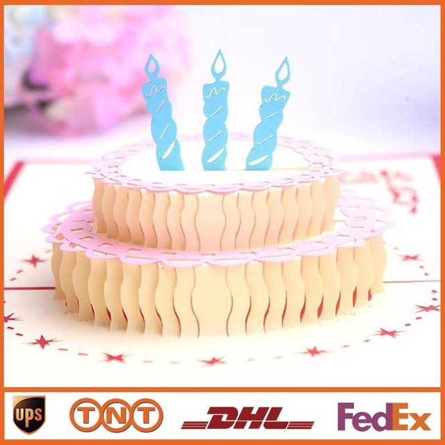 Pop Up Greeting Card 3d Diy Greeting Cards Happy Birthday Cake