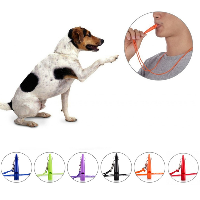 US $1 1 23% OFF|Adjustable Training Whistle Lanyard Set Ultrasonic Dog Pet  Pitch Sound Whistle Stop Barking Repeller Dog Beeper Supplies-in Dog